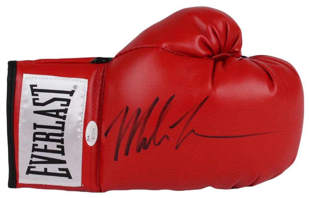 Mike Tyson Autographed Red Everlast Boxing Glove JSA Certified