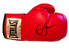 Boxer Vasyl Lomachenko Autographed Everlast Red Boxing Glove in Black Signature