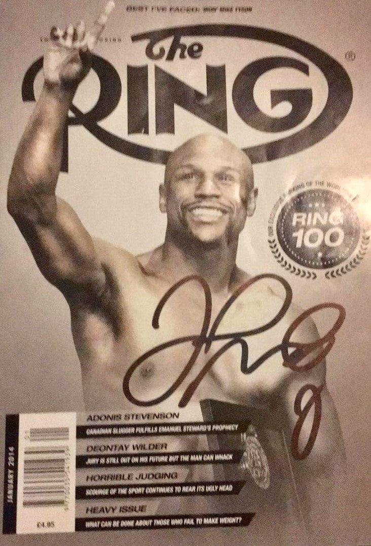 Floyd Mayweather Jr. Autographed The Ring Magazine Front Cover