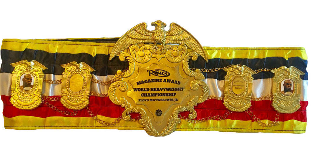 Floyd Mayweather Jr., Ring Magazine Championship Boxing Belt, Heavy and Beautiful!