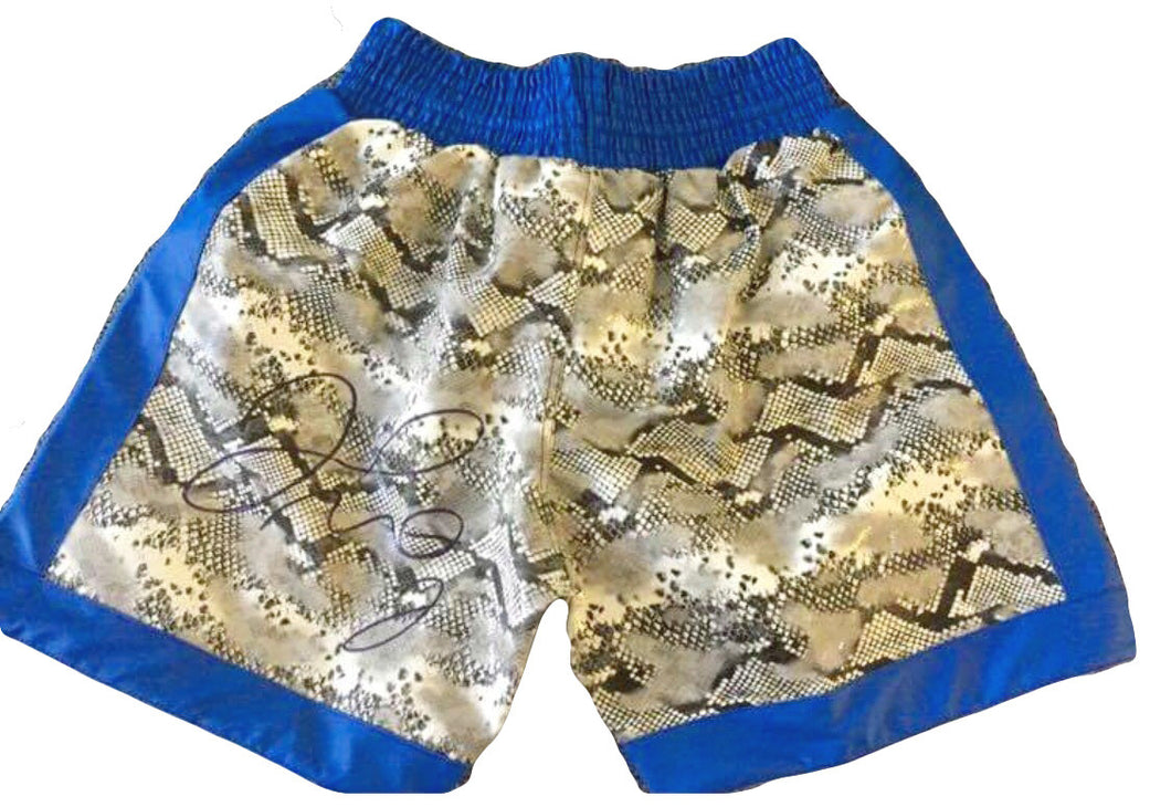 Floyd Mayweather Jr., Autographed Custom Made Boxing Trunks with Photo Proof and TMT Cert
