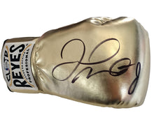 Floyd Mayweather Jr. Autographed Gold Reyes Boxing Glove Beckett Certified