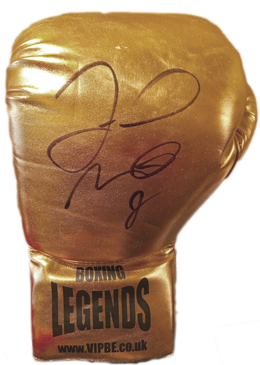 Floyd Mayweather Jr. Autographed Gold Boxing Glove