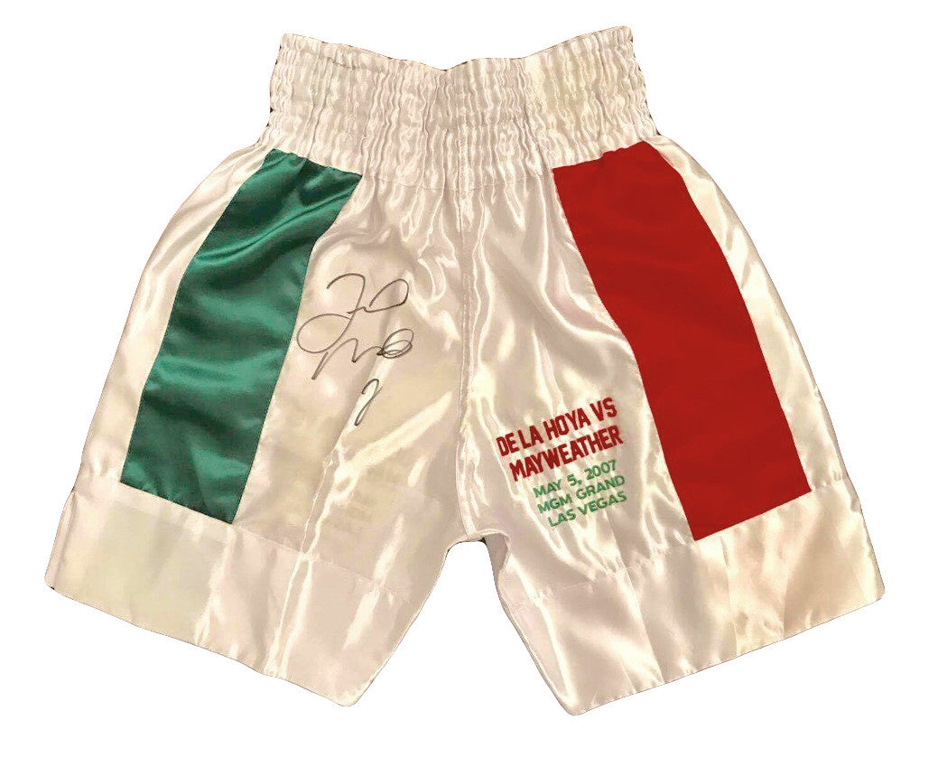 Floyd Mayweather Jr., Autographed Custom Made Boxing Trunks