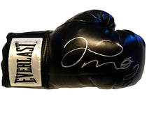 Floyd Mayweather Jr. Autographed Black Everlast Boxing Glove in Silver Marker