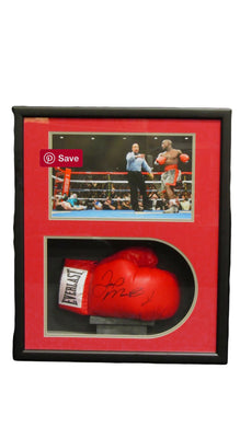 Floyd Mayweather Jr. Autographed Boxing Glove in a Shadowbox Display Case JSA