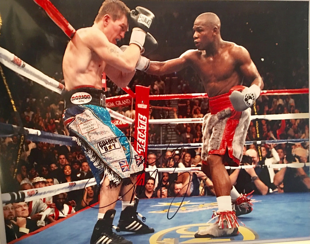 Autographed Photograph of Floyd Mayweather Jr. vs Ricky Hatton Hand-Signed by Floyd Jr.
