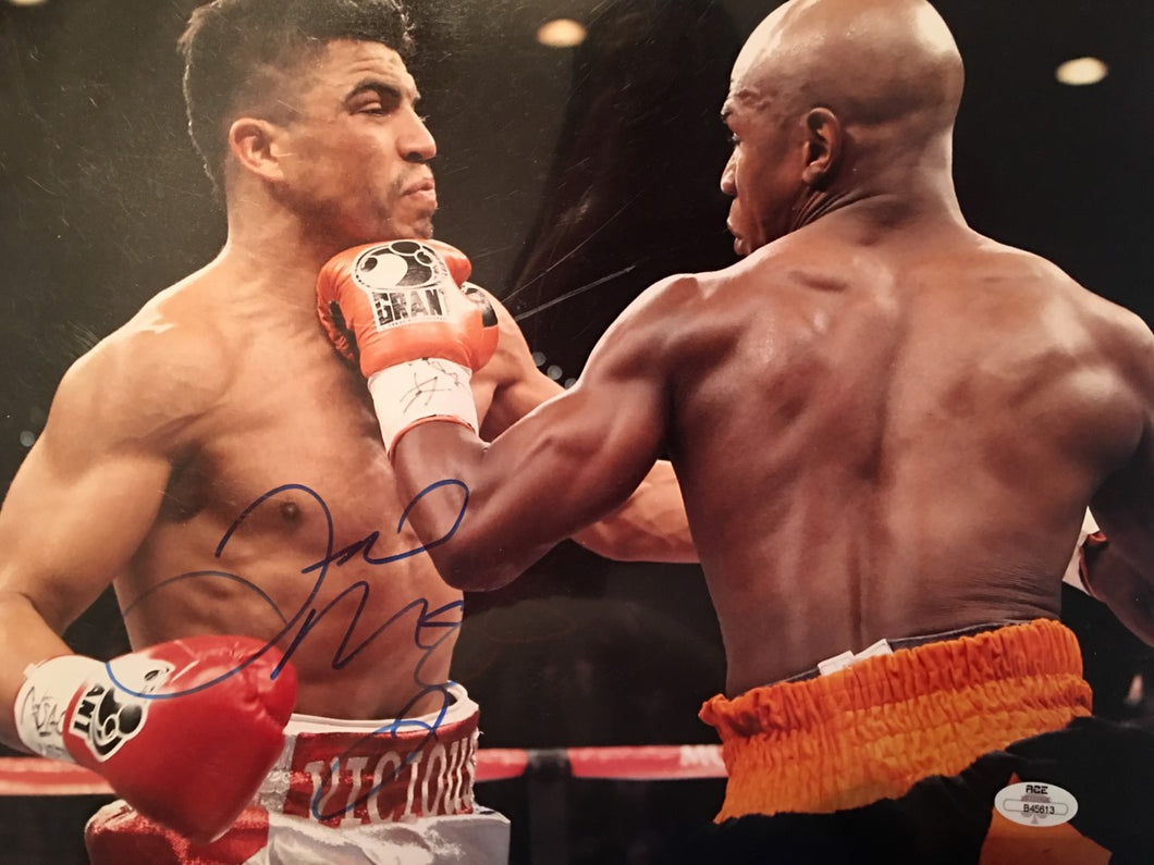 Floyd Mayweather Jr. vs Victor Ortiz 11 x 14 size color Autographed Photo