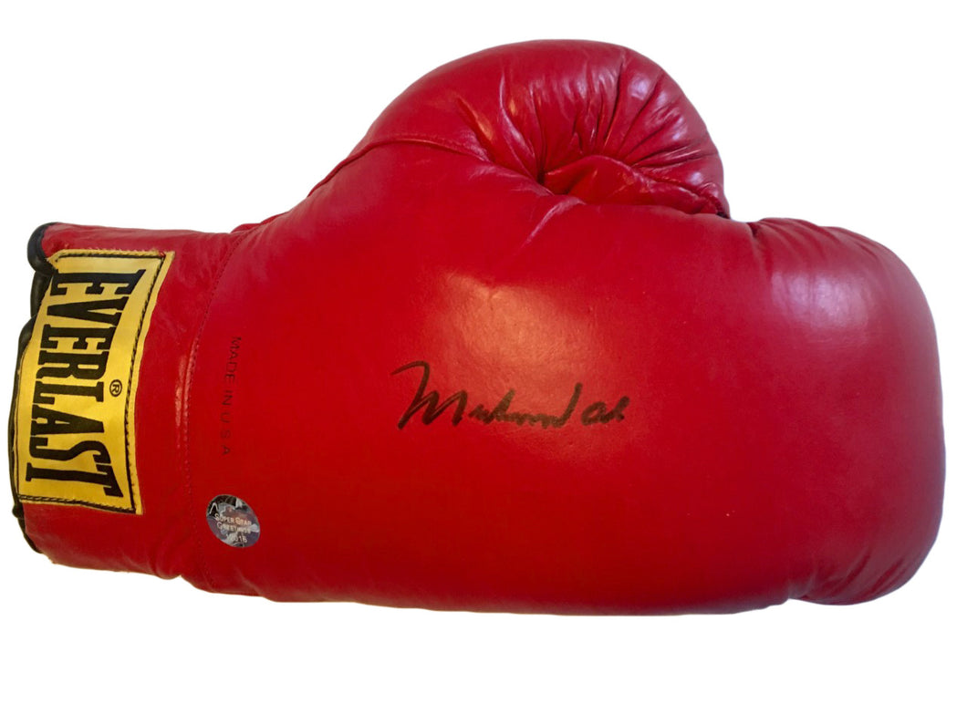 Muhammad Ali Autographed Vintage Everlast Red Boxing Glove Superstar Greetings certified