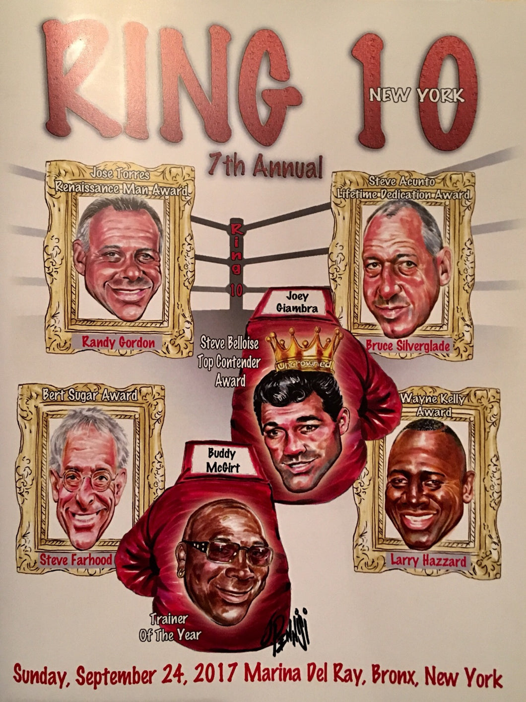 Ring 10 NYC Boxing Fundraiser Event Program