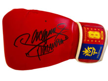 "Manny ""Pac Man"" Pacquiao Autographed Custom made Hand signed Heavy Duty Boxing gloves."
