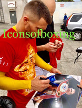 Boxer Vasyl Lomachenko Autographed 11x14 photo in Gold Signature, Photo Proof
