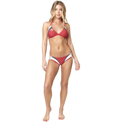 BIKINI FOX DIXIE LACE UP ROJO RIO