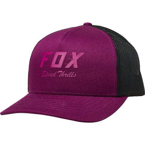 GORRA FOX DAMA SPEED THRILLS TRUCKER MORADO