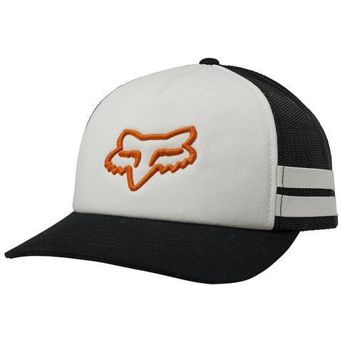 GORRA FOX HEAD TRIK TRUCKER DAMA BLANCO/NARANJA