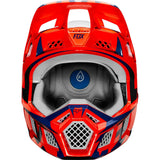 CASCO FOX V3 IDOL∩ NARANJA/AZUL