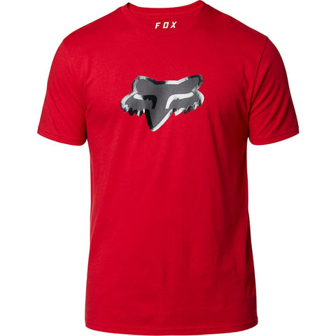 PLAYERA PREMIUM FOX STAY GLASSY SS ROJO
