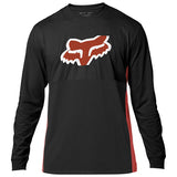 PLAYERA FOX LS BLAZED NEGRO/NARANJA