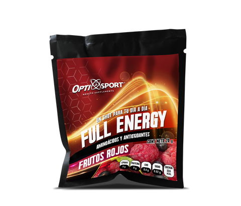 SOBRE OPTISPORT FULL ENERGY FRUTOS ROJOS 20 G