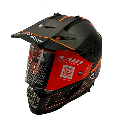 CASCO CROSS CITY LS2 PIONEER TRIGGER NGO/MATE/TITANIUM MX436