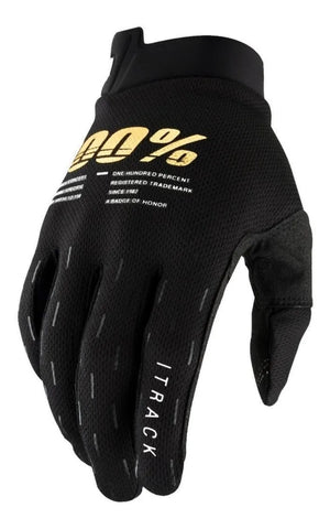 GUANTES 100%  ITRACK NEGRO