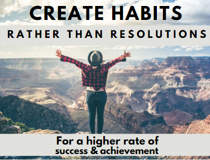 Create Habits Rather than Resolutions