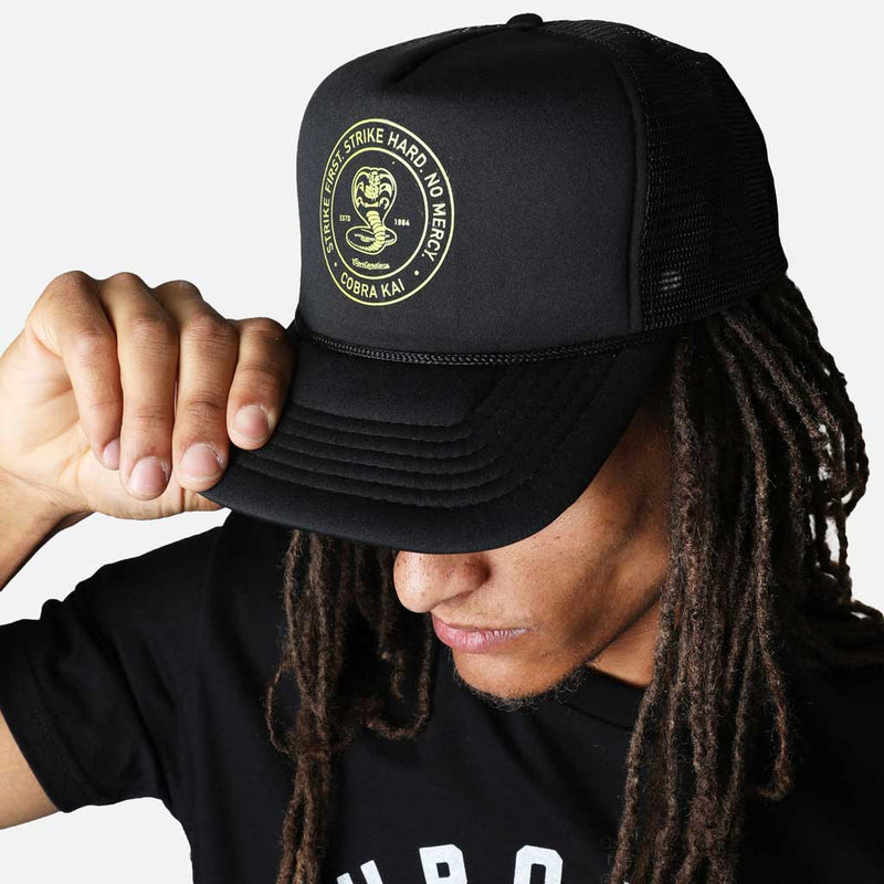 COBRA KAI CIRCLE STAMP TRUCKER SNAPBACK - Contenders Clothing