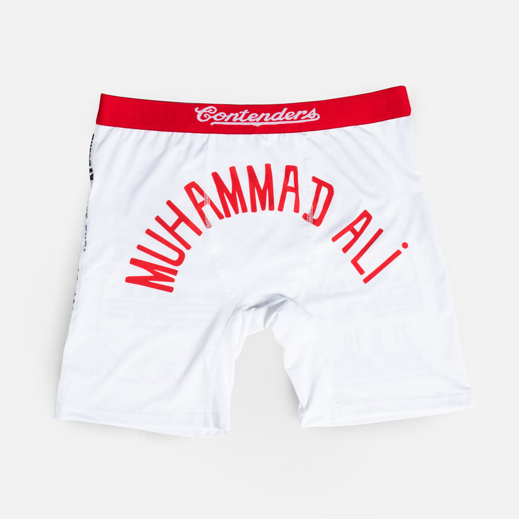 Muhammad Ali Contenders Robe 1965 white boxer brief