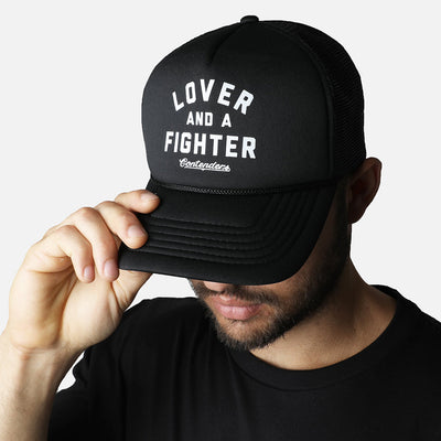 LOVER & FIGHTER BLACK TRUCKER - Contenders Clothing