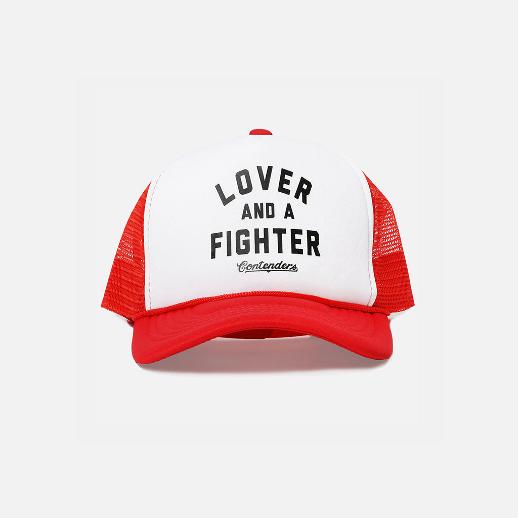 LOVER & FIGHTER RED TRUCKER - Contenders Clothing