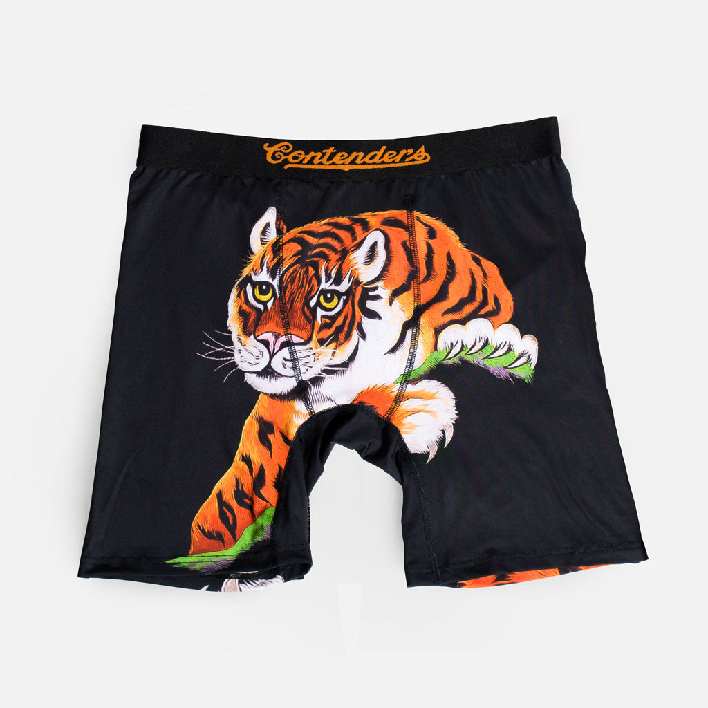 Rocky Satin Tiger Black Boxer Brief