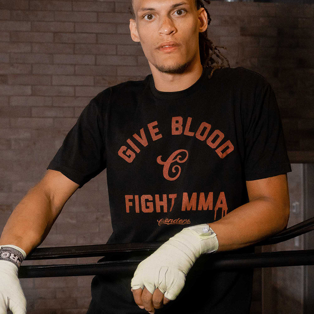 GIVE BLOOD MMA SHIRT - Contenders Clothing