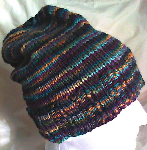 Genesis Hat a Free Knitting Pattern by Wendy Ann Lindquist WATERKNYT Artisan graphic
