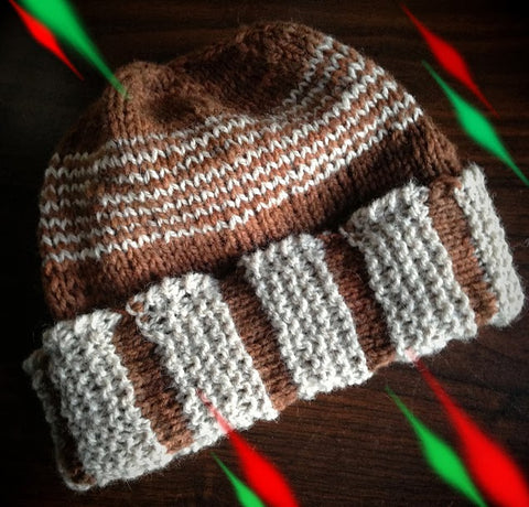Hudson Hat Free Knitting Pattern by Wendy Ann Lindquist WATERKNYT Artisan graphic