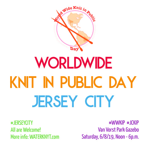 Worldwide Knit in Public Day Jersey City NJ graphic waterknyt