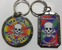 Memphis Key Chain Skull  TN