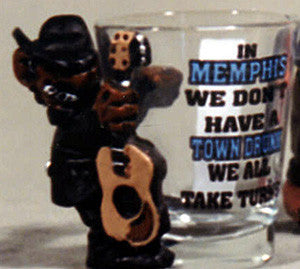 Memphis Shot Glass Town Drunk