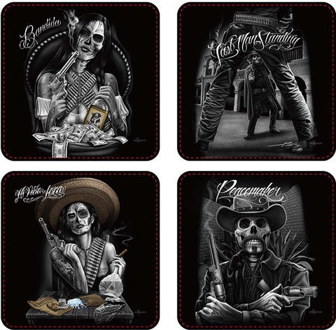 David Gonzales Art Coasters Western - 4/Set -