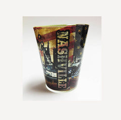 Nashville Shot Glass Country  Classic with Flag