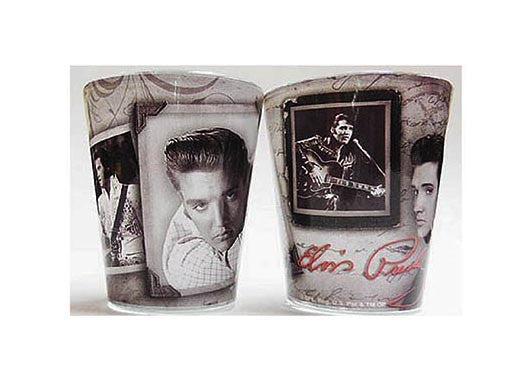 Elvis Shot Glass Frames w/ Letter
