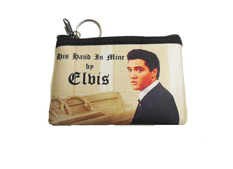 Elvis Key Chain Coin Purse Hand in Mine