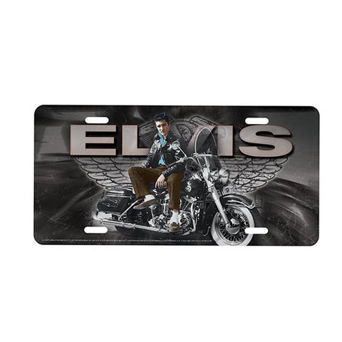 Elvis License Plate Motorcycle w/ Wings