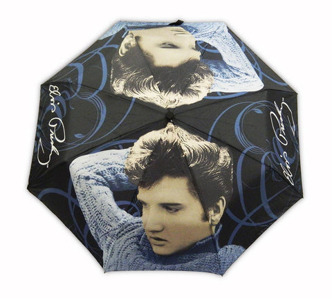 Elvis Umbrella Blue Sweater