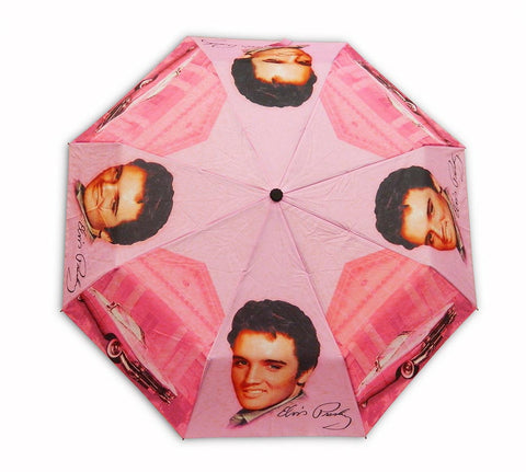 Elvis Umbrella Pink w/Guitars