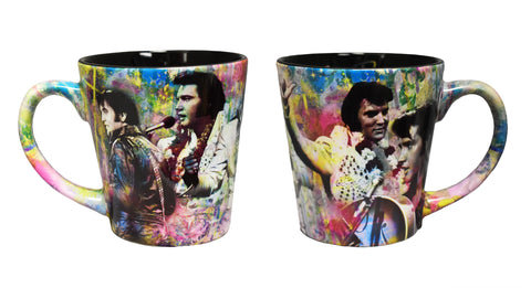Elvis Mug Colorful Collage Latte