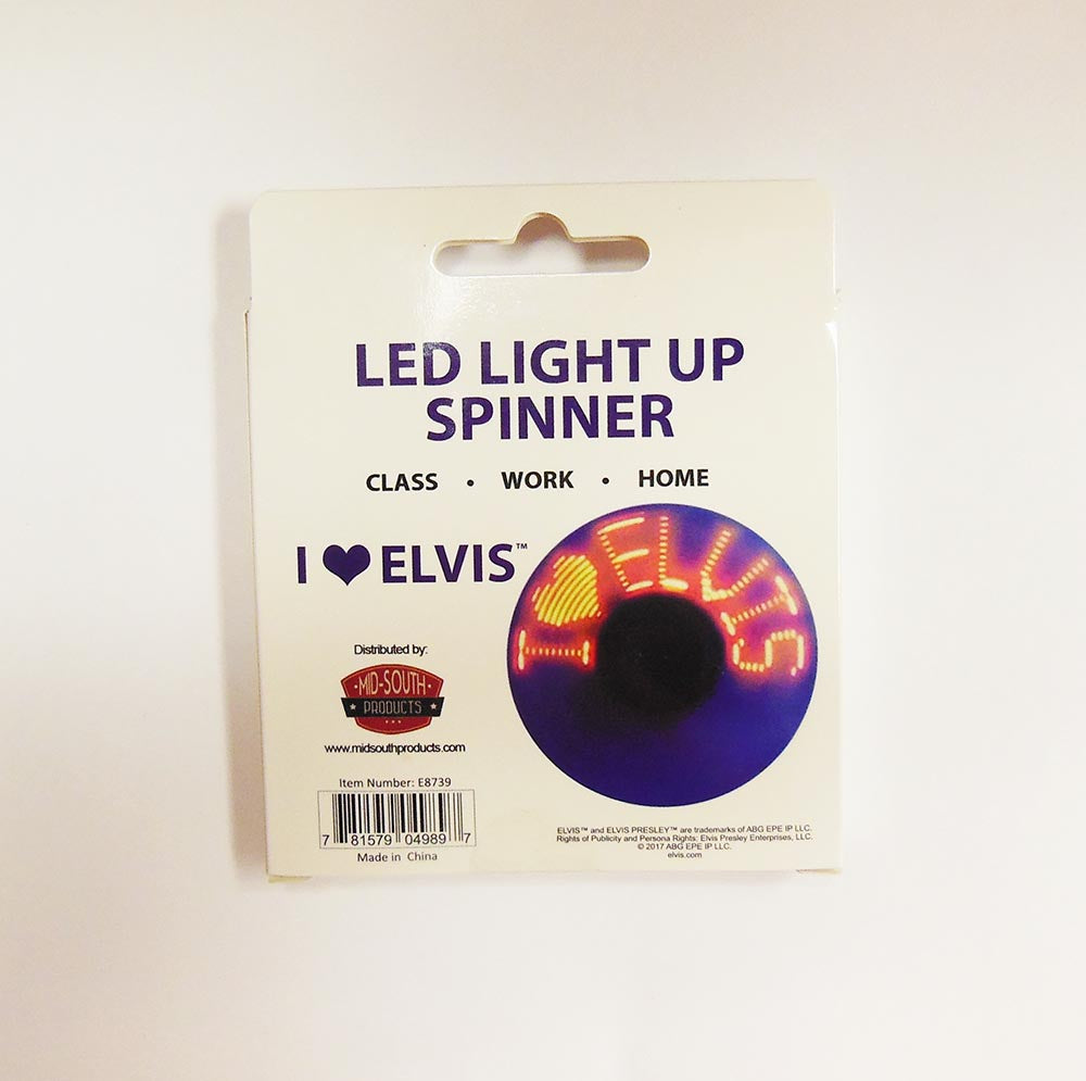 Elvis Spinner Led I Love Elvis