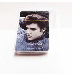 Elvis Playing Cards Blue Sweater