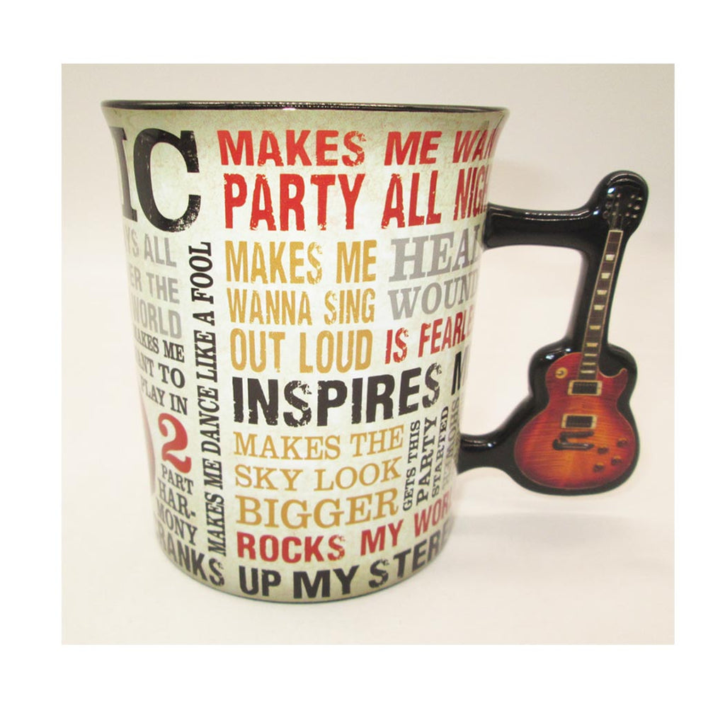 Mug Music Is Passion Gtr Handle