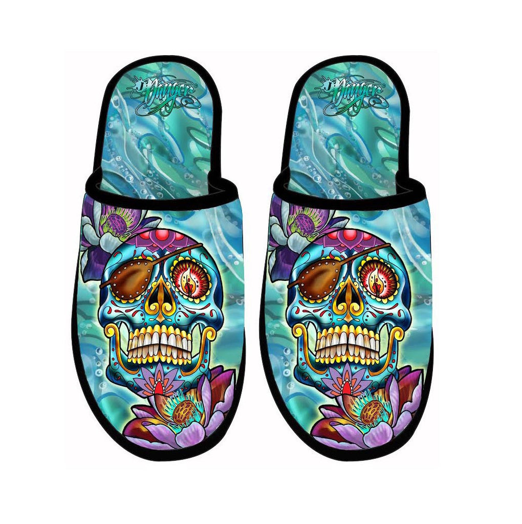 James Danger Slippers Skully Roger