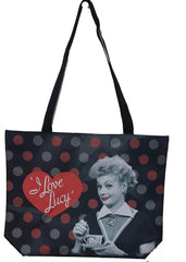Lucy Tote Bag Blk & Red